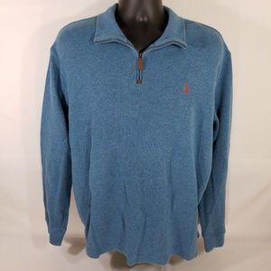 Polo Ralph Lauren Sweater Blue Cerulean 1/4 zip